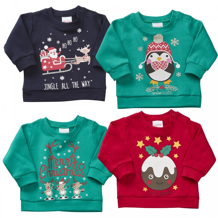 11C064  6/24M ASSORTED CHRISTMAS SWEATSHIRTS