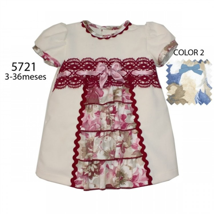 A5721 SPANISH PRE ORDER FLORAL FRILLS DRESS