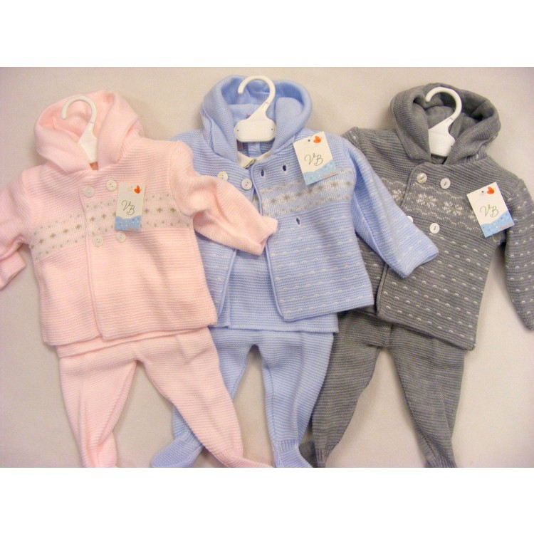 G185/6 VB SPANISH 3pce KNITTED SNOWFLAKE SUIT