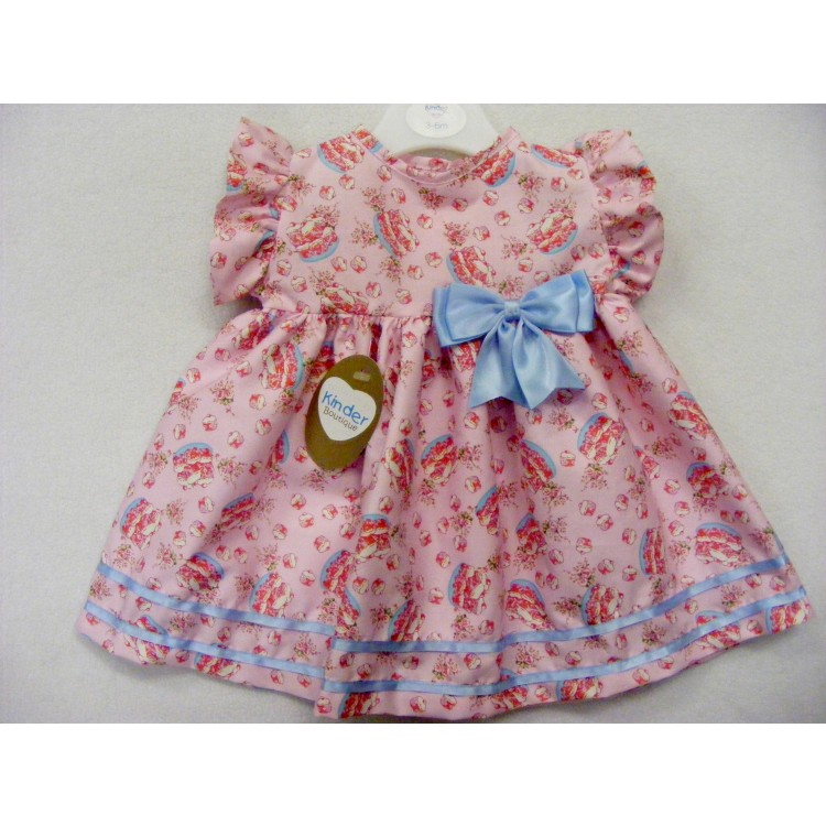 8966 'KINDER BOUTIQUE' CAKES FRILL SLEEVE BABY DRESS