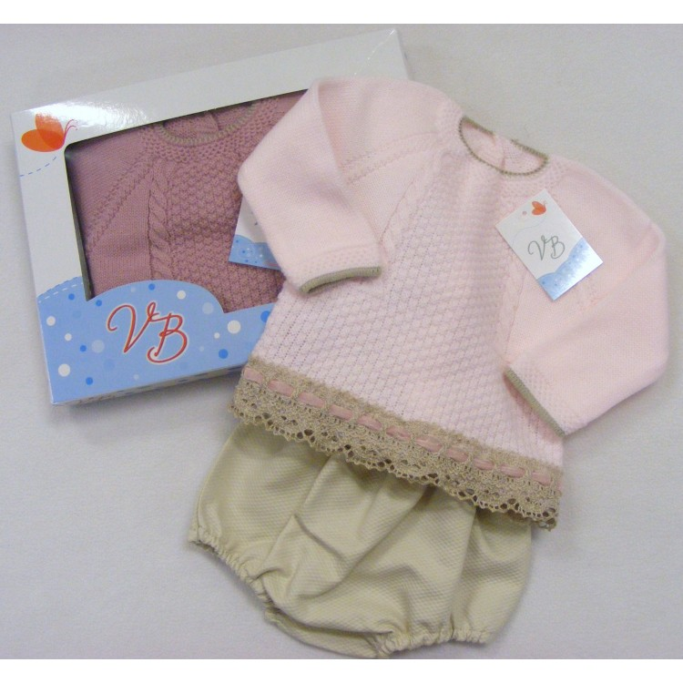 G144 SPANISH  COTTON LACE TRIM TOP & WAFFLE SHORTS SET