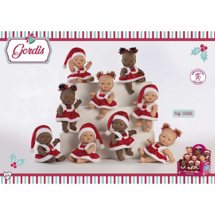 0262B BERBESA SPANISH DOLLS --- 'GORDIS' CHRISTMAS 26cm COLLECTABLE DOLLS