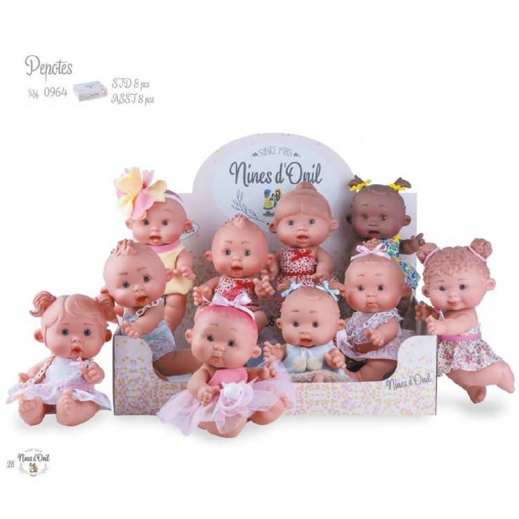 0964 NINES 26cm PEPOTES  COLLECTABLE DOLLS