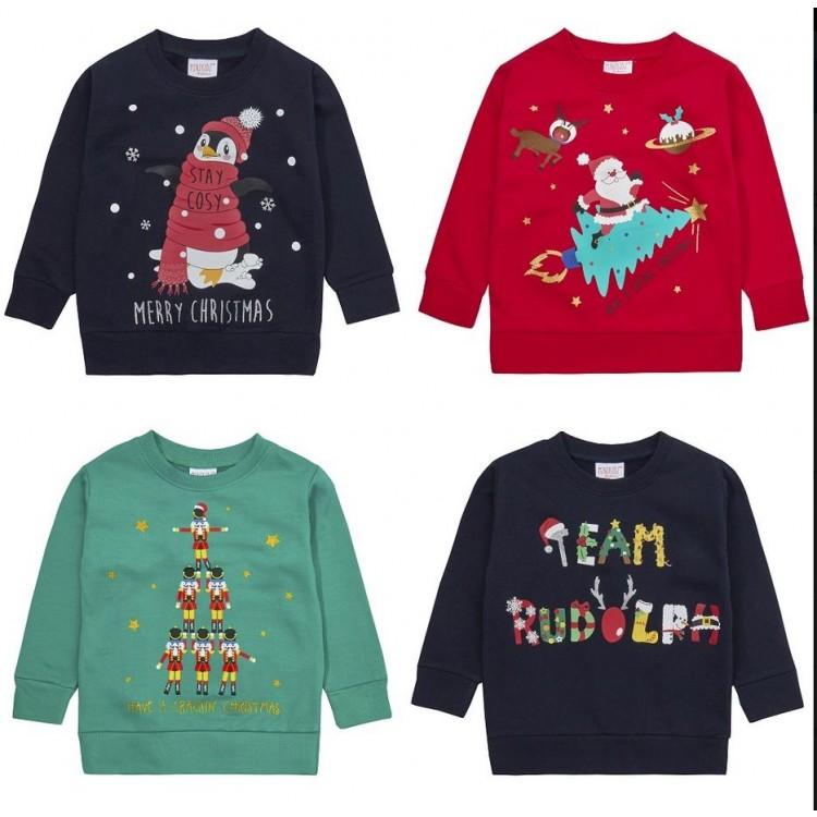 11C124: Assorted Infants Christmas Fleece Sweatshirts (2-6 Years)