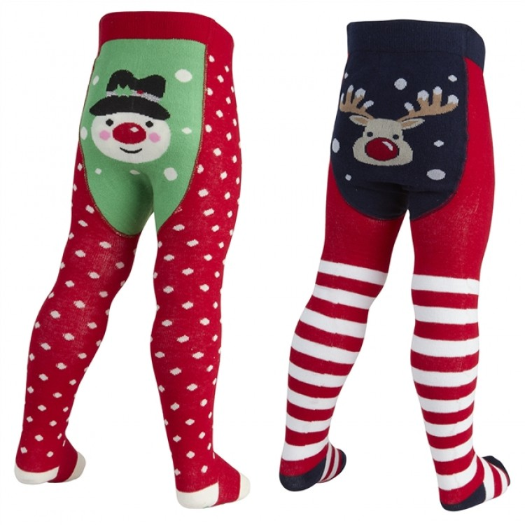 45b082 SNOWMAN & REINDEER TIGHTS
