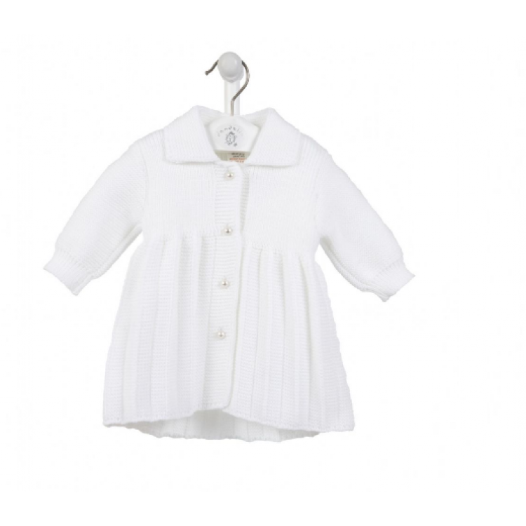 A4043W 'DANDELION' WHITE KNITTED COAT