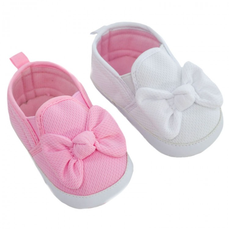 B2250 SOFT TOUCH FABRIC BOW SHOES