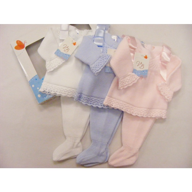 G435 VB KNITTED RIBBON SLEEVE 2 pce KNITTTED SUIT