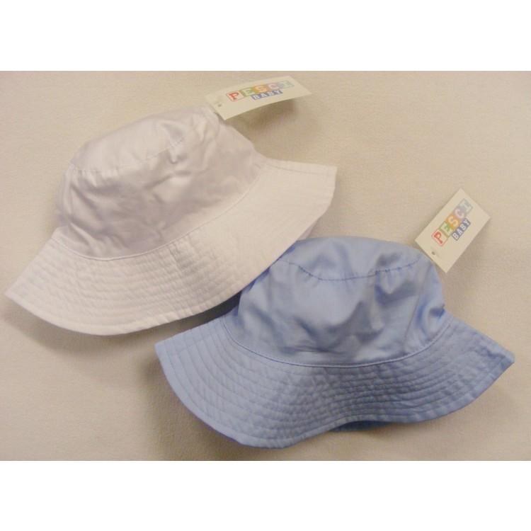 0249/1 WIDE BRIM HAT - WHITE & BLUE