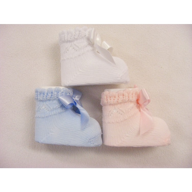 1874 POCHOLO KNITTED BOW SOCK