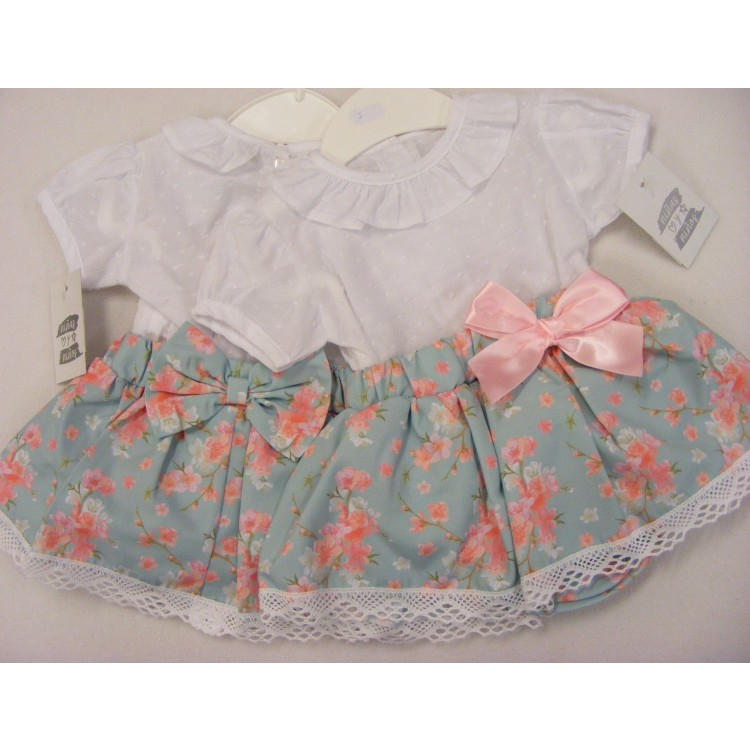 JJ06 'NINAS Y NINOS' BLOUSE & SKIRT with KNICKS ATTACHED SUIT