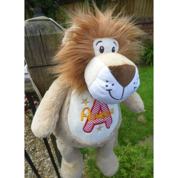 TEDDEE SUPER SOFT LION EMBROIDERY READY - LEO THE BACKPACK