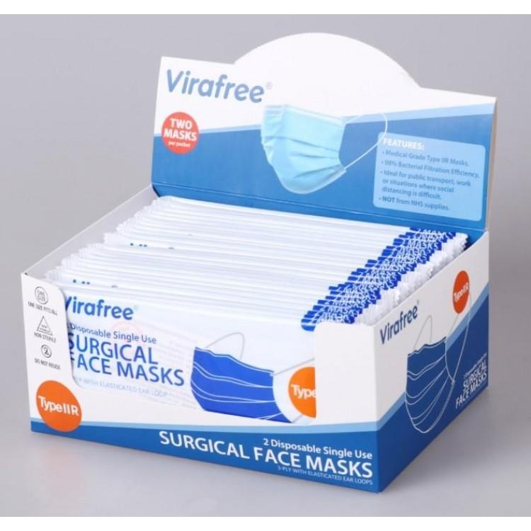 PP005 'VIRAFREE' SURGICAL FACE MASKS